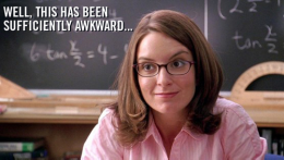 'Well, this has been sufficiently awkward ...' -Ms. Sharon Norbury